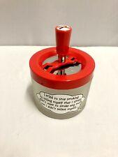 Smoking Vintage  Push & Spin Top Ashtray