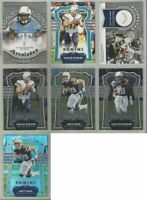 Los Angeles Chargers 7 card 2017 PANINI insert & parallel lot-all different