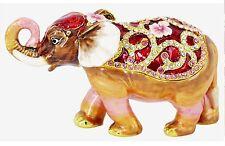 RUCINNI Elephant Jeweled Trinket Box
