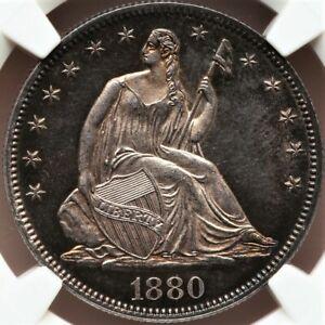 1880 50C PR64 Cameo  Seated Liberty NGC. CAC