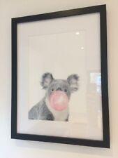 Koala Bubble Gum Baby Nursery Modern Art Poster Print Wall Picture Home