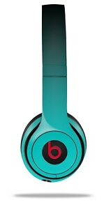 Skin Beats Solo 2 3 Smooth Fades Neon Teal Black Headphones NOT INCLUDED