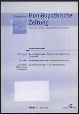 Homöopathische Zeitung Homöopathie Stramonium Kinder Asclepias Syrica AMP