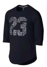 Nike Air Jordan Boys Raglan 3/4 Sleeve T-Shirt Tee Size Large