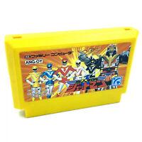 Jeu Famicom Choujin Sentai Jetman Power Rangers Nintendo NES Import Japon NTSC-J