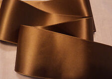 "2"" WIDE SWISS DOUBLE FACE SATIN RIBBON-  ANTIQUE GOLD  -   BTY"