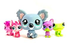"Littlest Pet Shop LPS Lot 5 Miniature Koala Friends Baby 1"" Figure #1604 EUC"