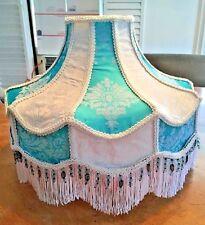 Vintage Style Victorian Damask Fringe & Beaded Lamp Shade
