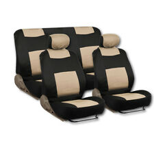 DELUXE Double-Padded Front Car Seat/ Rear Bench/ Headrest Covers Set -  9 PC