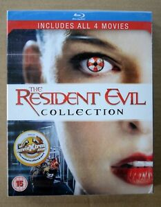 The Resident Evil Collection 1-4 (Blu Ray) Milla Jovovich - Four disc NEW/SEALED
