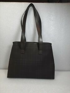 Burberry Bag London Nova Check Dark Grey / Black Shoulder Bag