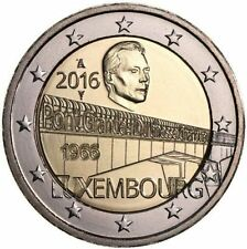 Pièces euro du Luxembourg Année 2016
