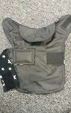 Size XS Waterproof dog coat. Black with white stars  fleece inner.