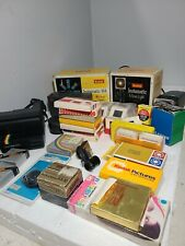 Large Lot Of Photography Items. Slides Cameras Other