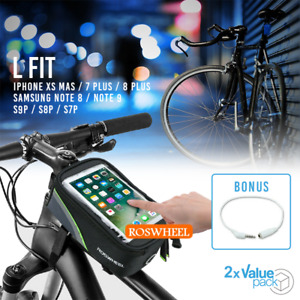 """2x Cycling Bike 5.5"""" Front Top Frame Pannier Tube Bag Case Pouch for CellPhone"""