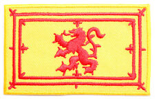 Scottish Lion Rampant Flag Embroidered Sew-on Cloth Patch Appliqué