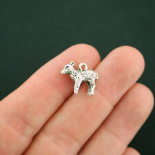 4 Lamb Charms Antique Silver Tone 3D Sheep - SC3456 NEW6
