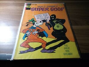 WALT DISNEY SUPER GOOF #33 (CREASE) WHITMAN COMICS FREE S/H