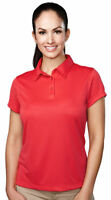 Tri Mountain Women's Short Sleeve Moisture Wicking Polyester Polo Shirt. 036