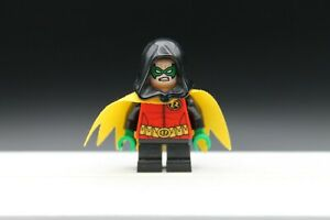 Lego Robin Damien Wayne Yellow cape black hood minifigure Batman genuine 76056