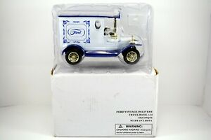 RARE 1925 FORD MODEL T VINTAGE DELIVERY TRUCK BANK Golden Wheel Diecast 1:24