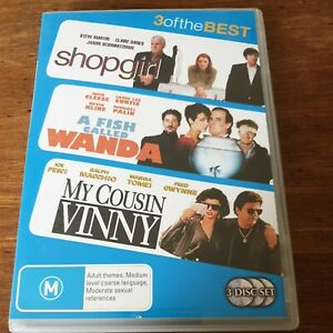 Shopgirl + A Fish Called Wanda +  My Cousin Vinny Triple DVD Set R4 Like New!
