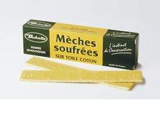 MECHE SOUFREE SOUFRE SUR TOILE COTON 12 =  500 GRAMMES aseptiser fut en bois