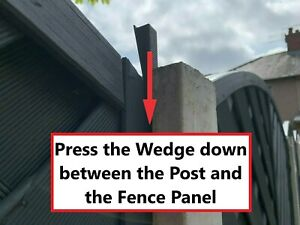 FENCE PANEL WEDGES (20 PACK) STOP FENCE PANELS RATTLING IN WIND FENCE WEDGES