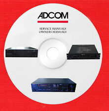 Adcom Audio Repair Service owner manuals on 1 dvd in pdf format