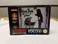 Addams Family Values - SNES Super Nintendo Game CIB PAL UKV + Box Protector