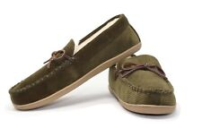 J.Crew Men's 10 - NWT$59 Olive Green Corduroy Sherpa Moccasin Slippers
