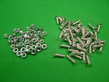 Machine screws with nuts M6 x 20, pack of 50, countersunk slot bolt bolts screw
