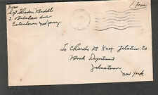 1943 WWII military cover Sgt Theodore Biddl Belshaw Ave Eatontown Oceanport NJ