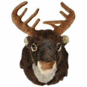 Singing Reindeer Head Hanging Wall Decoration Christmas Xmas Festive Fun Stag