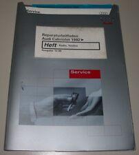 Werkstatthandbuch Audi Cabrio Typ 89 B3 Radio / Telefon ab Baujahre 1992!