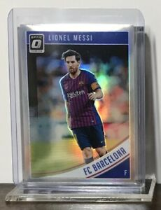 2018-19 LIONEL MESSI PANINI DONRUSS OPTIC HOLO SILVER PRIZM #1