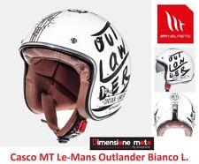 Casco Jet con Visierina Fumè MT Le-Mans Outlander Bianco Lucido Taglia M 57/58cm