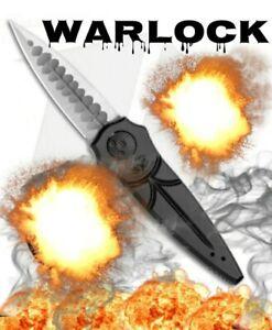 "Paragon Warlock Knife OD black Aluminum (4"" Satin Two-Tone Sorcerer)"