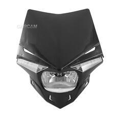 Black UFO Enduro Headlight Fairing Kit Dirtbike Scooter Streetfighter Universal