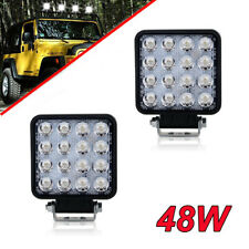 2 x 16-LED Rectangular 48W Auto Fog Driving Lights Working Spot Lamps For Dodge