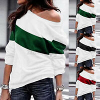 ZANZEA Women Blouse Evening Long Sleeve Shirt Tee Sweats Pullover Top Plus Size