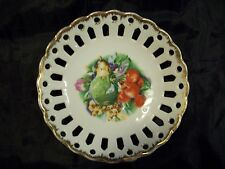 NAPCO CHINA HANDPAINTED FRUIT WALL HANGING W/GOLD ACCENTS 1M 1574 VERY NICE!!!!!