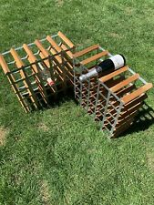 Two Vintage Traditional Wood And Metal Wine Rack 25-30 (Both Racks Included).
