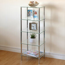 Beautiful Wonderful Hartleys Clear Glass 5 Tier Side Table/Display Shelf Unit Lounge Living  Room Part
