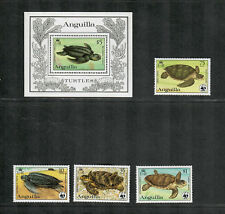 Anguilla Sc#537-540, 541 M/NH, Turtles, Cv. $69