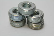 "RB125-50  1-1/4"" x 1/2"" Threaded Reducing Bushing  Malleable Iron (lot of 5) New"