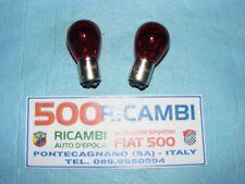 FIAT 500 F/L/R 126 COPPIA LAMPADINE ROSSE PER LUCE STOP FANALINI BAY15D P21/5