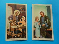 LOT 2 IMAGES PIEUSES SAINT  JOSEPH JESUS CHARPENTIER CARPINTERO  THFR