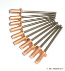 10 off Copper Sealed Rivets 3.2 x 8.0 mm Ideal For Mamod Steam Engine Repairs