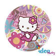 PIATTI HELLO KITTY - addobbi tavola festa Compleanno bambina 10 pz